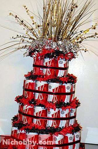 cake from beer cans do it yourself: master class